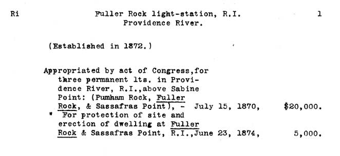 Fuller Rock Light - Lighthouse Board Clipping Files - page 1