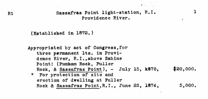 Sassafras Point Light - Lighthouse Board Clipping Files - page 1