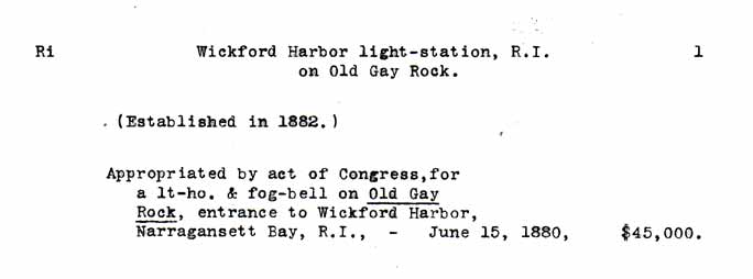 Wickford Harbor Light - Lighthouse Board Clipping Files - page 1