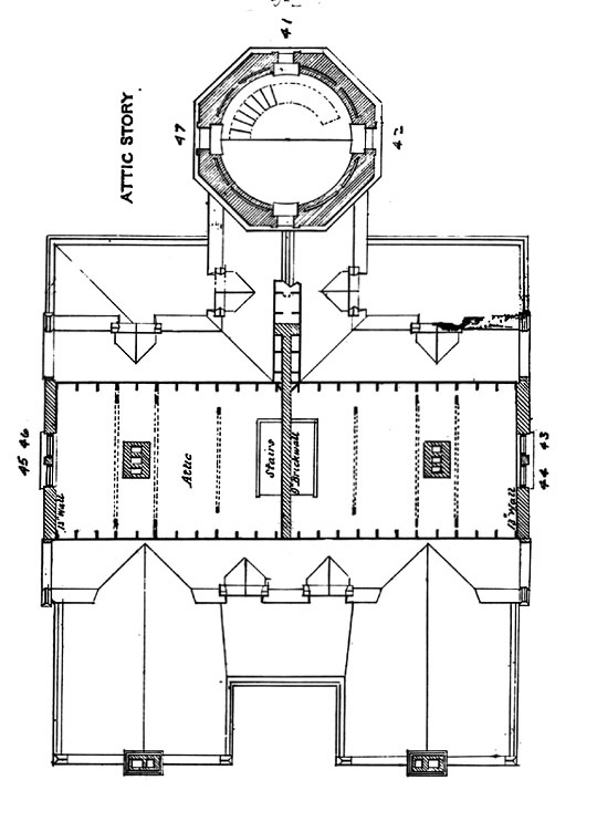 Plan for Attic of Block Island Southeast Lighthouse