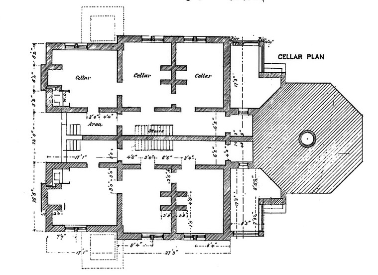 Plan for Cellar of Block Island Southeast Lighthouse