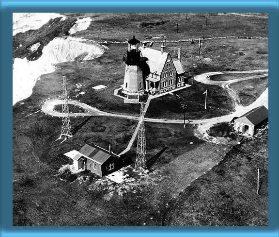 Aerial view of Block Island Southeast Lighthouse 1951