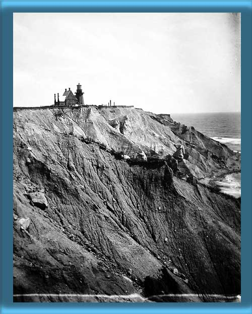 Block Island Southeast Lighthouse and Mohegan Bluffs  1890