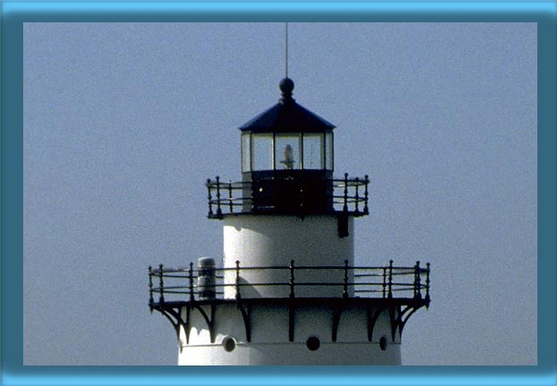 Conimicut Point Lighthouse's Lantern and 250mm Lens