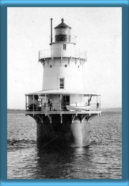Hog Island Shoal Lighthouse and Keeper