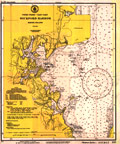 Wickford Harbor Nautical Chart - 1942