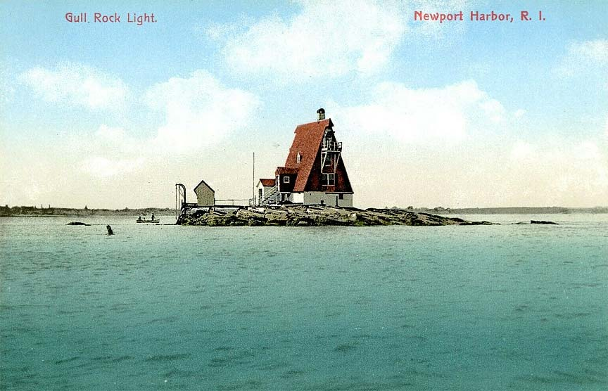 Gull Rocks Lighthouse Postcard
