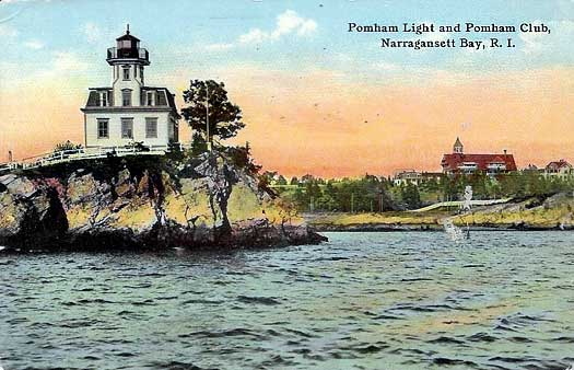 Pomham Rock Lighthouse Postcard