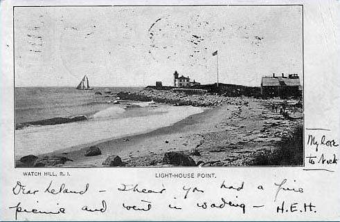 Watch Hill Lighthouse Postcard