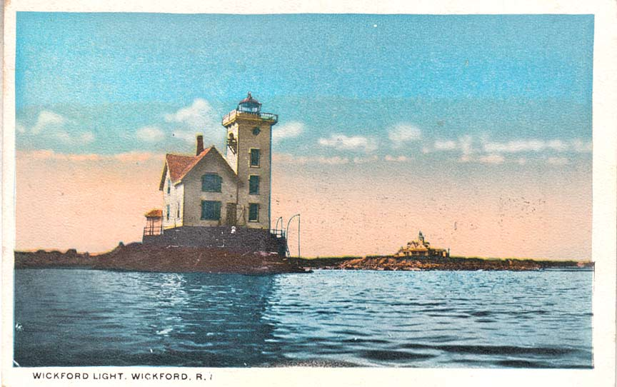 Wickford Harbor Lighthouse Postcard
